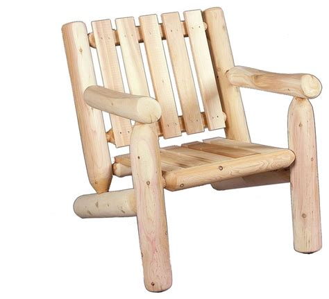 cedar log arm chair rustic outdoor lounge chairs by