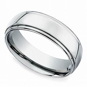 beveled men39s wedding ring in platinum 7mm With wedding rings men platinum