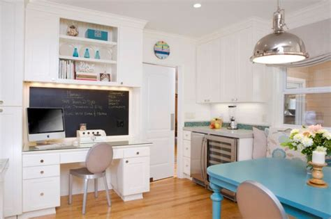 kitchen desk design mutfağınızda kullanışlı bir ofis tasarlamanın 20 yolu ev 1538
