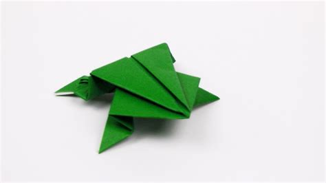 origami jumping frog youtube