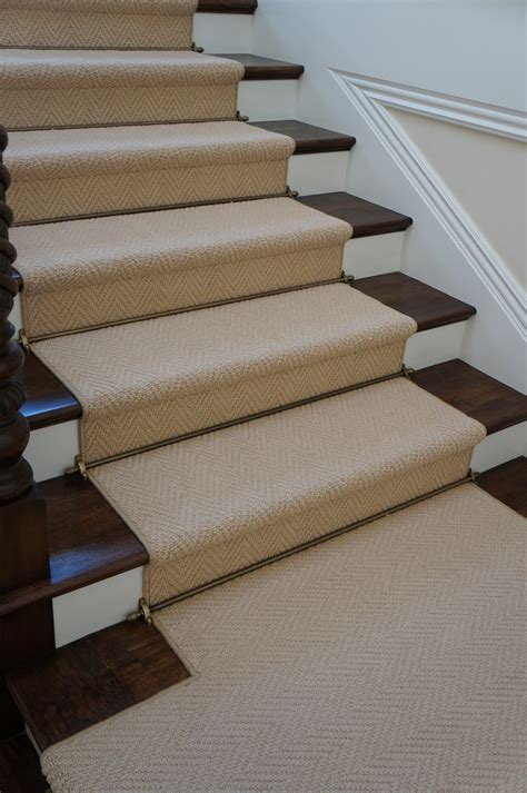 Rugs For Stairs Runners by Herringbone Wool Stair Runner Hemphill S Rugs Carpets