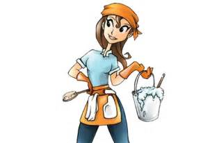 House Cleaning Lady Clip Art