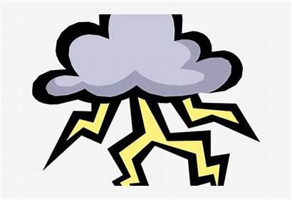 Thunder Lightning Cartoon Storm Clipart Cloud Transparent