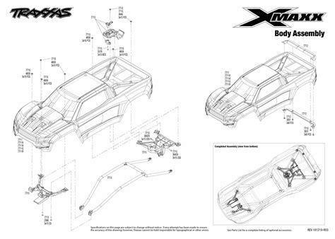 Traxxa T Maxx Steering Diagram by Exploded View Traxxas X Maxx 1 5 8s 4wd Tqi Brushless Tsm