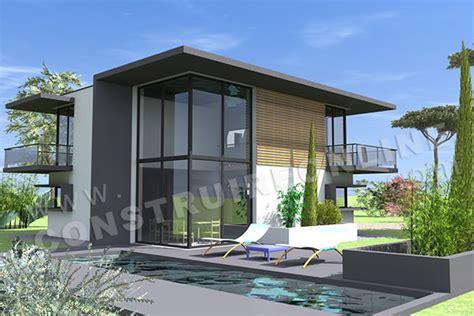 plan maison 3 chambres plain pied garage vente de plan de maison contemporaine