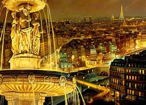 Paris France at Night free download wallpaper