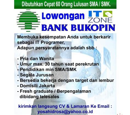 lowongan kerja bank  sma  surabaya lowongan kerja