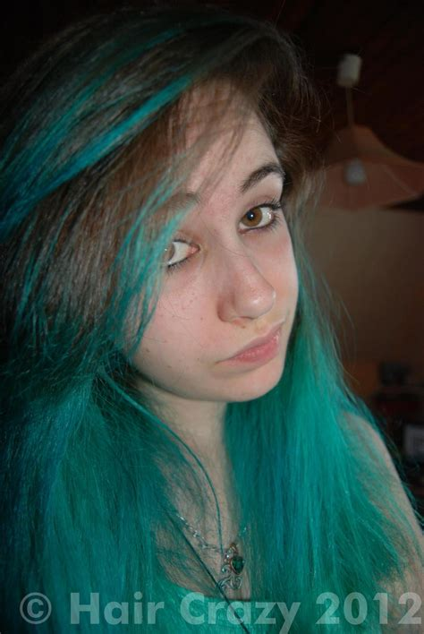 what gives hair its color buy cool toned green hair colour at haircrazy