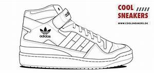 adidas shoes coloring pages With adidas shoe template