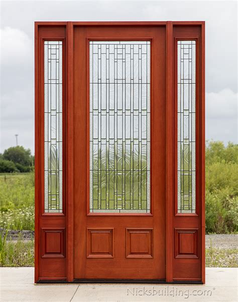 front doors with sidelights exterior mahogany doors pfc 252 walnut stained