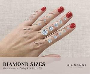 diamond sizes archives miadonna diamond blog miadonna With wedding ring diamond size