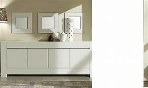 Enfilade Blanc Laqué : buffet bahut 4 portes blanc laqu et chrome totti 3 ~ Teatrodelosmanantiales.com Idées de Décoration