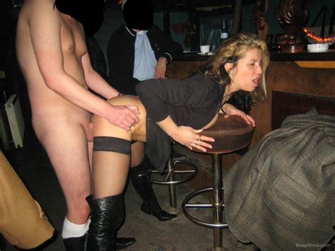 Great Milf Whore Group Sex In A Local Bar