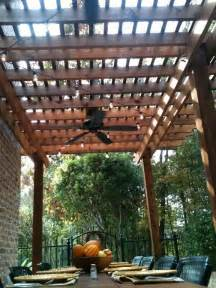 pergola and fan part of dock www westernpatiocompany
