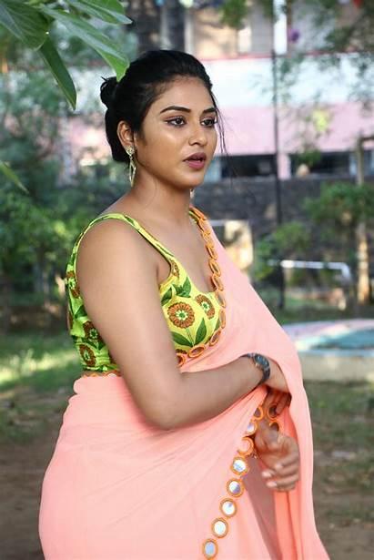 Indhuja Ravichandran Saree Actress Super Duper Tamil