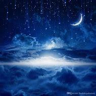 Beautiful Night Sky Moon and Stars