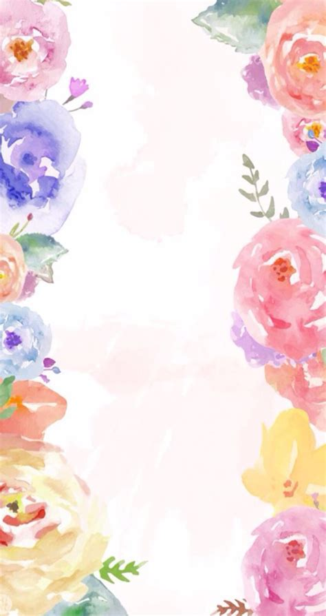 Find & download free graphic resources for watercolor flowers. Cute rose watercolor wallpaper | Watercolor floral wallpaper, Floral watercolor, Floral wallpaper