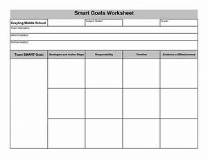 smart goal worksheet pdf lesupercoin printables worksheets With goals and objectives template excel