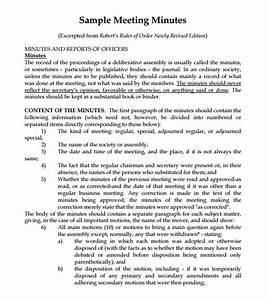 Sample of minutes of the meeting altavistaventures Gallery
