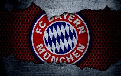 wallpapers bayern munich  logo metal