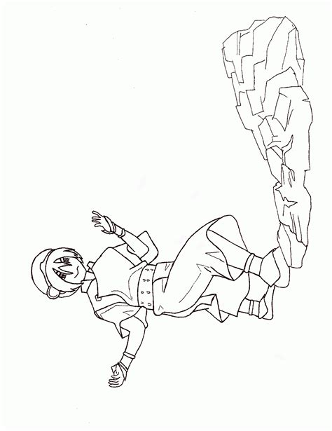 Blue Avatar Coloring Pages Avatar The Last Airbender Katara Coloring Pages To Print