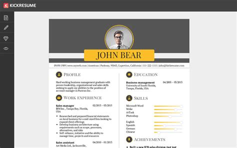 Resume Creating Websites by Kickresume Create A Professional Resume In Minutes And