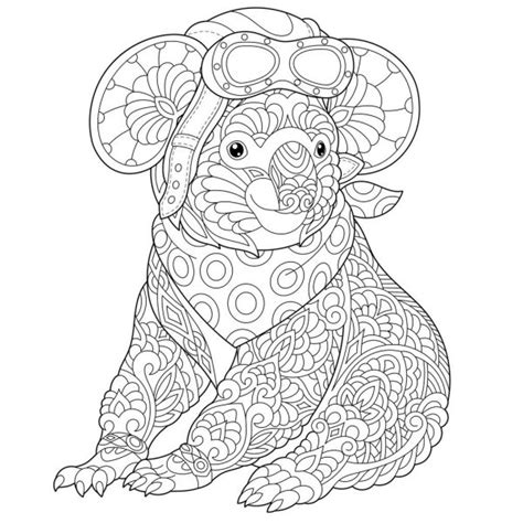 Detailed Koala Coloring Pages