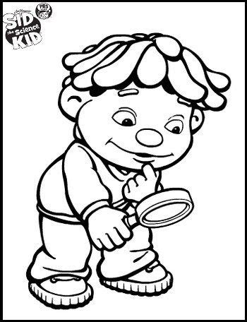 sid  science kid  observation coloring pages top
