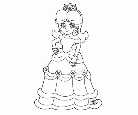 mario luigi peach daisy bowser toad picture coloring page coloring home