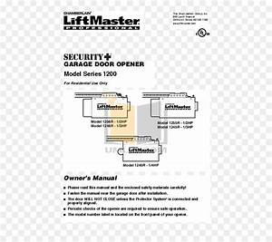 Chamberlain Liftmaster 1 2 Hp Garage Door Opener Manual