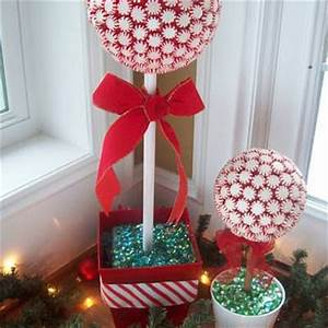 Peppermint Topiary Tree DIY Christmas Decorations} Tip