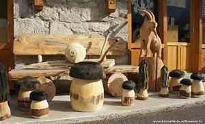 Animaux En Bois Décoration : objets d coration jardin fabriqu en bois ~ Teatrodelosmanantiales.com Idées de Décoration
