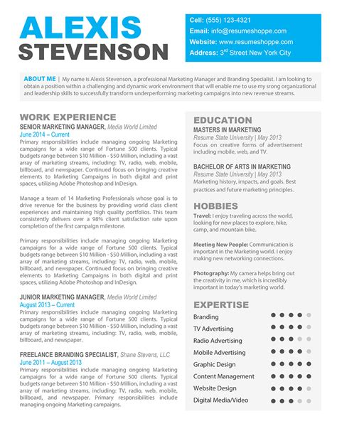 creative diy resumes free printable resume templates