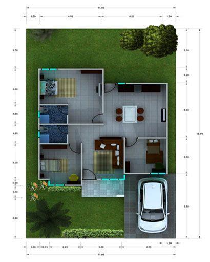 desain rumah mungil minimalis modern sketch  home
