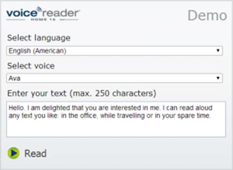 text  speech demos test  products   linguatec