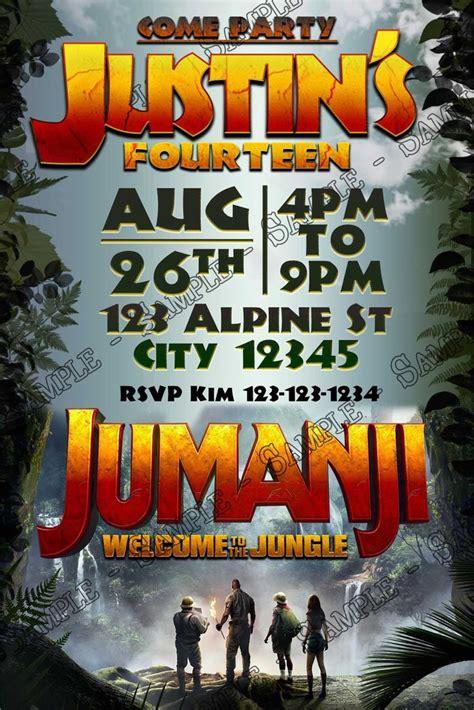 concept designs jumanji  birthday party