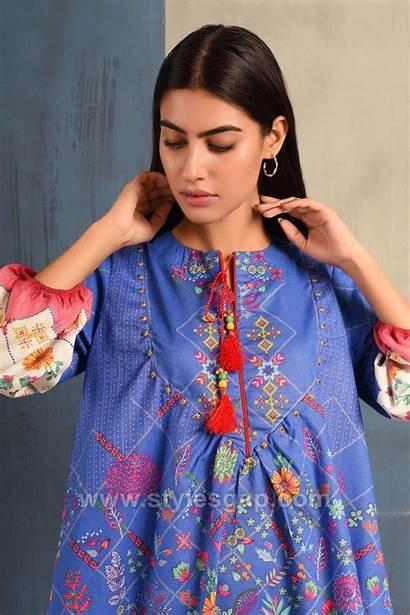 Gala Kurti Neckline Stylish Latest Tunics Pakistani