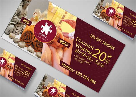 beauty spa gift voucher design template effects