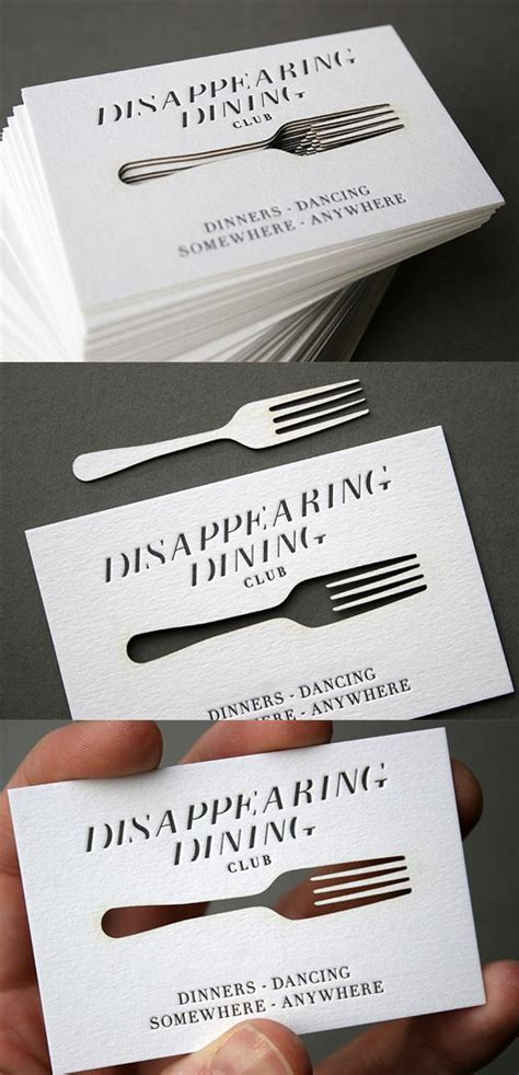 clever concept   laser cut business card design