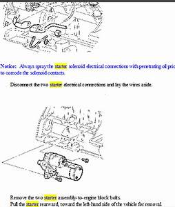 Schematics And Diagrams  Saturn Sl1  Replace Starter