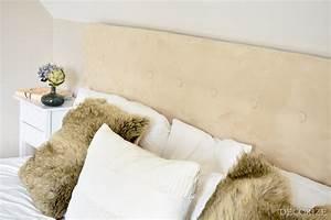 Bett Kopfteil Kissen : aufgem belt diy ein kopfteil f rs bett decorize ~ Michelbontemps.com Haus und Dekorationen