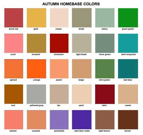 autumn color names autumn homebase colors shop my closet boutique color guide oto 241 o pinterest woman