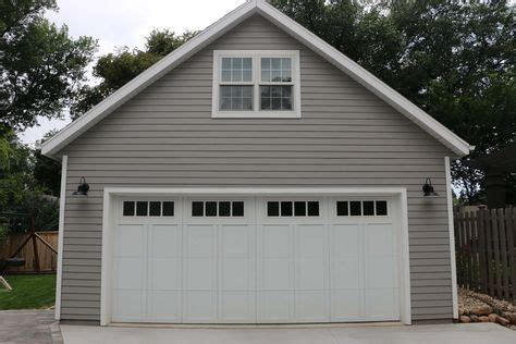 detached garage  attic trusses  garage journal board garage