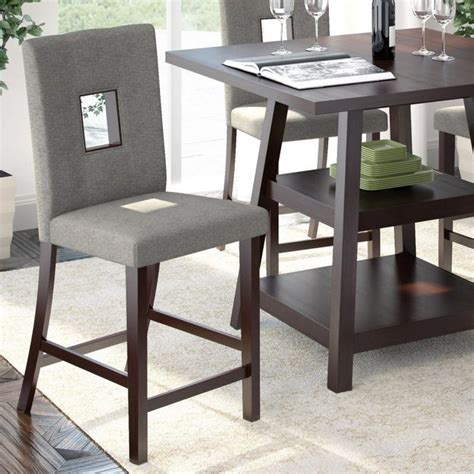 corliving bistro counter height dining chairs gray sand