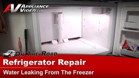 refrigerator diagnostic repair water leakingkenmore