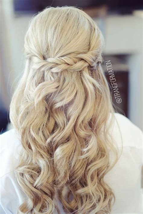 ideas about half up wedding hair on