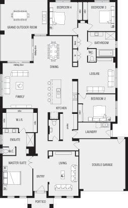 3 Bedroom House Queensland by Lincoln New Home Floor Plans Interactive House Plans