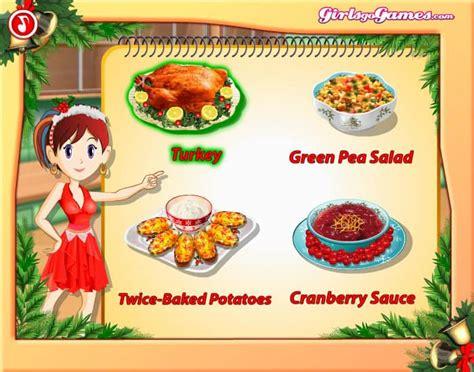 saras cooking class xmas game funnygamesin
