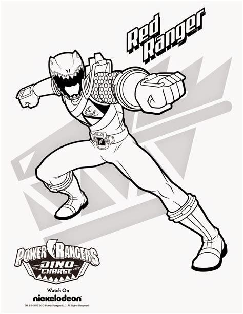Power Ranger Dino Charge Coloring Page Printable Free