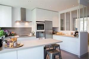 Photo cuisine semi ouverte cuisine semiouverte avec for Charming meuble bar cuisine americaine 6 cuisine semi ouverte avec bar cuisine en image